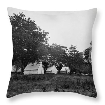 Headquarters - Army Of The Potomac - Fairfax Courthouse Virginia 1863 Throw Pillow by International  Images