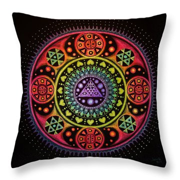 Meditation On Healing From Within Throw Pillow
