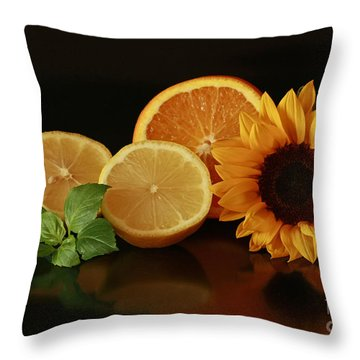 Healthy Food Matters Throw Pillow by Inspired Nature Photography Fine Art Photography