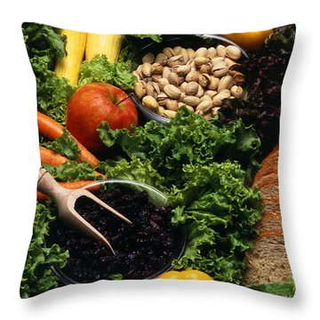 Healthy Foods Throw Pillow by Photo Researchers