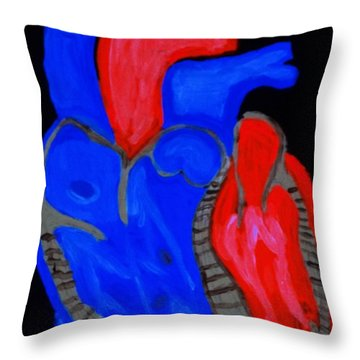 Throw Pillow featuring the painting Heart A Glow by Lisa Brandel