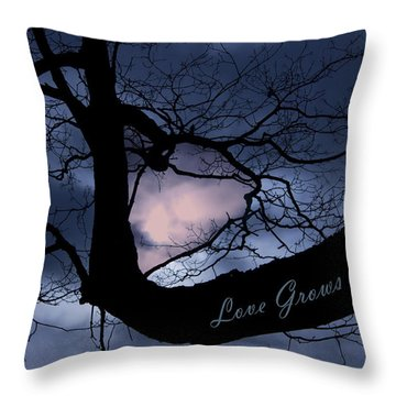Heart In Tree Love Grows Within  Throw Pillow