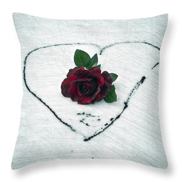 Heart Of Blood Throw Pillow by Joana Kruse