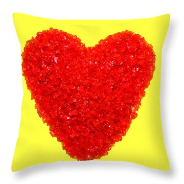 Heart Of Glass Throw Pillow by Olivier Le Queinec