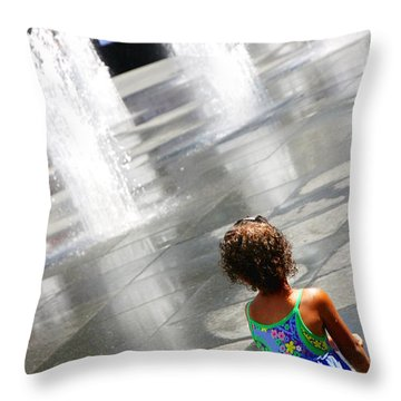 Heart Of The City Throw Pillow by Valentino Visentini