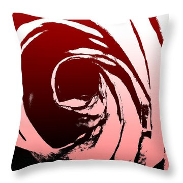 Heart Of The Rose Throw Pillow