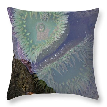 Heart Of The Tide Pool Throw Pillow by Mick Anderson