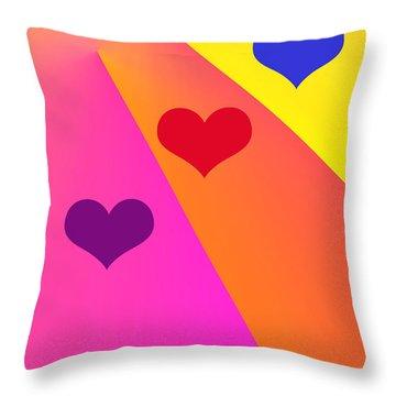 Heartbeams Throw Pillow by Susan Stevenson