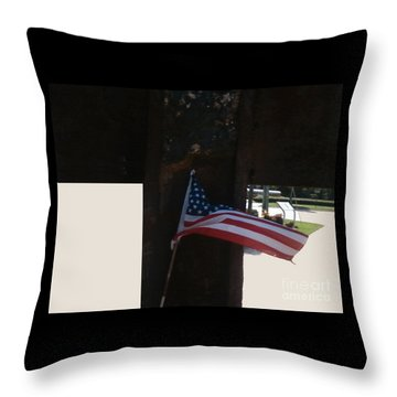 Heartbeat Of America Throw Pillow
