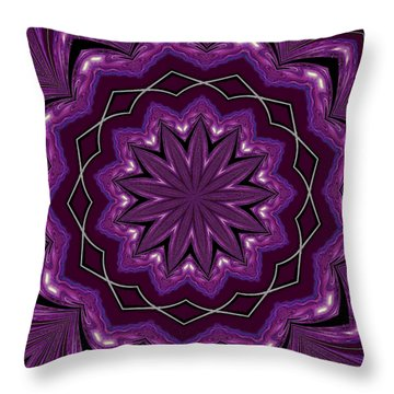 Throw Pillow featuring the digital art Heather And Lace by Alec Drake