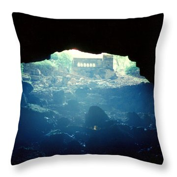 Throw Pillow featuring the photograph Heaven And Hell by Lou Ann Bagnall