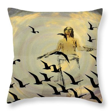 Heaven Sent Throw Pillow by Bill Cannon