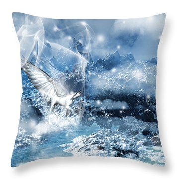 Heavenly Interlude Throw Pillow by Lourry Legarde
