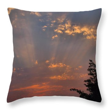 Heavenly Rays Throw Pillow by Joyce Dickens