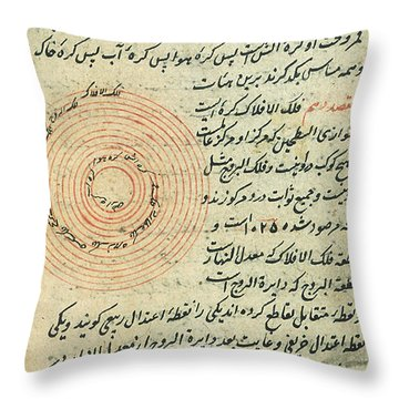 Heavenly Spheres, Islamic Astronomy Throw Pillow by Science Source