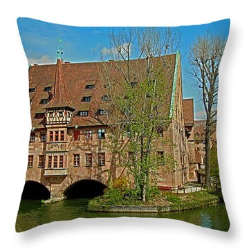 Heilig-geist-spital In Nuremberg Throw Pillow
