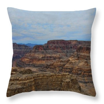 Helicopter View Of The Grand Canyon Throw Pillow by Douglas Barnard