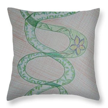 Throw Pillow featuring the painting Helix  by Sonali Gangane