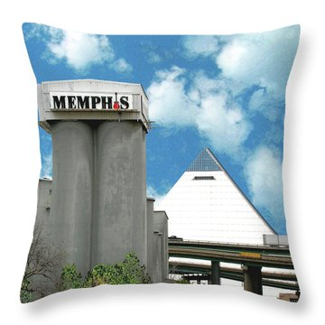 Throw Pillow featuring the photograph Hello Memphis by Lizi Beard-Ward