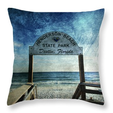 Henderson Beach State Park Florida Throw Pillow by Susanne Van Hulst