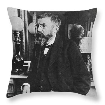 Henri Poincare, French Polymath Throw Pillow by Science Source