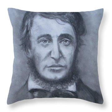 Henry David Thoreau Throw Pillow by Jack Skinner