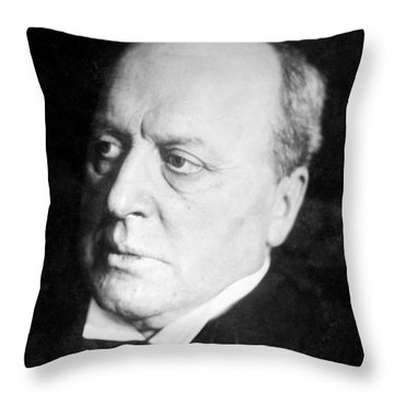 Henry James, American-born British Throw Pillow by Photo Researchers