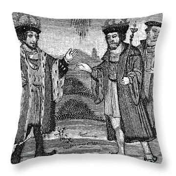 Henry Viii & Francis I Throw Pillow by Granger