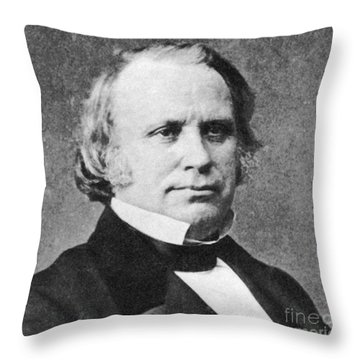 Henry Wilson Throw Pillow by Photo Researchers
