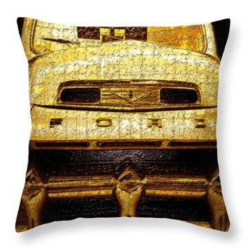 Henrys Ford Truck Throw Pillow by David Lee Thompson
