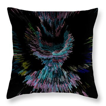 Her Cosmic Dress Or Flight Throw Pillow by Marie Jamieson