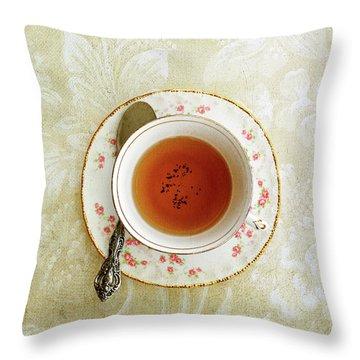 Herbal Tea Throw Pillow by Stephanie Frey