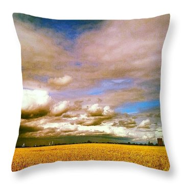 Here Comes The Rain Again Throw Pillow
