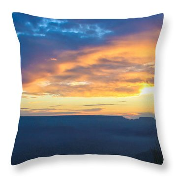 Here Comes The Sun Throw Pillow by Heidi Smith