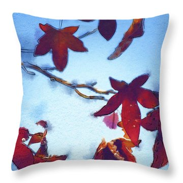 Here Today Throw Pillow