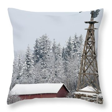 Heritage Park Historical Village Throw Pillow by Michael Interisano