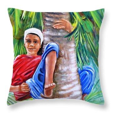 Hey Coconut Mon Throw Pillow