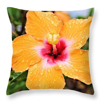 Hibiscus Beauty Throw Pillow