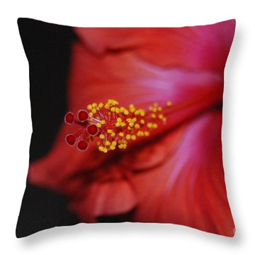 Hibiscus Extreme Throw Pillow