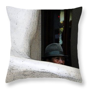 Hidden Artist Throw Pillow by Al Bourassa