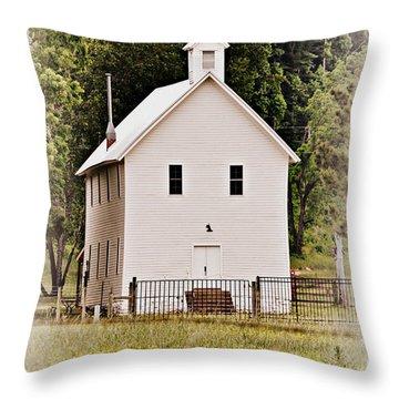 Hidden Church Throw Pillow by Marty Koch