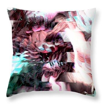 Hidden Dimensions Throw Pillow by Linda Sannuti