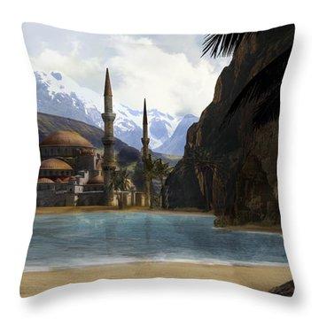 Hidden In The Mountains Throw Pillow