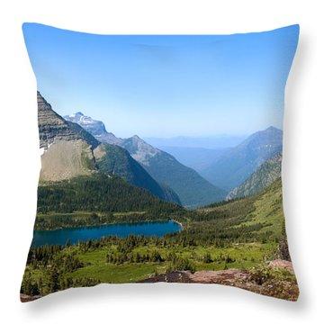 Hidden Lake Throw Pillow by Gregory G. Dimijian, M.D.