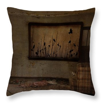 Hidden Smiles Of Birds  Throw Pillow by Empty Wall