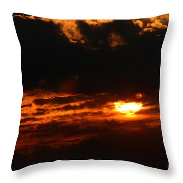 Hiding Sunset Throw Pillow