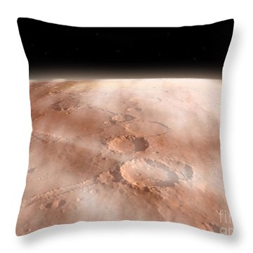High Altitude Clouds Of Water Ice Throw Pillow by Walter Myers