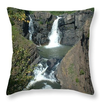 Throw Pillow featuring the photograph High Falls Grand Portage by Bonfire Photography