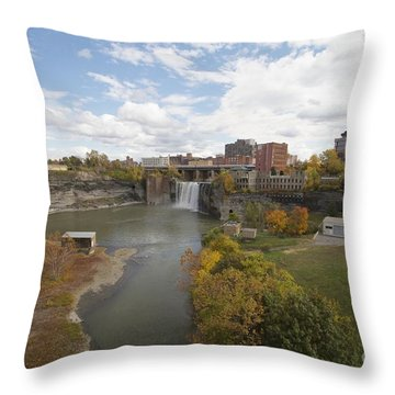 Throw Pillow featuring the photograph High Falls by William Norton