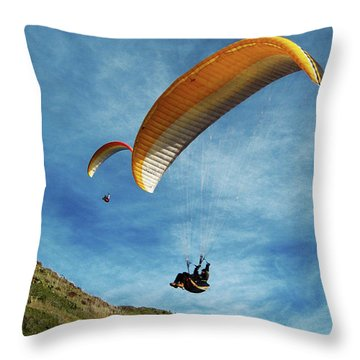 High Flyers Throw Pillow by Lorraine Devon Wilke